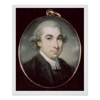 Miniature of an Unknown Clergyman Poster