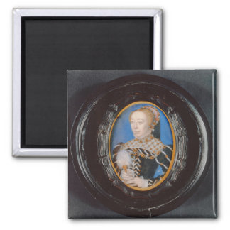 Miniature of Catherine de Medici, c.1555 (w/c on v 2 Inch Square Magnet
