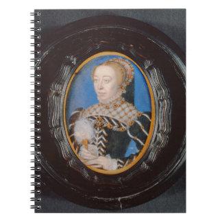 Miniature of Catherine de Medici, c.1555 (w/c on v Notebook