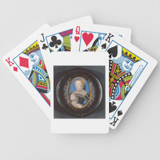 Miniature of Catherine de Medici, c.1555 (w/c on v Bicycle Playing Cards