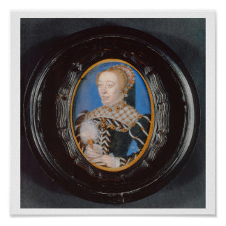 Miniature of Catherine de Medici, c.1555 (w/c on v Poster