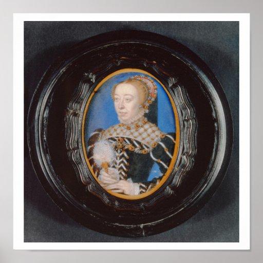 Miniature of Catherine de Medici, c.1555 (w/c on v Poster