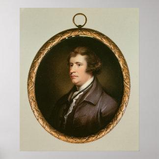 Miniature of Edmund Burke, 1795 Poster