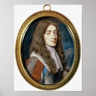 Miniature of James II as the Duke of York, 1661 Poster