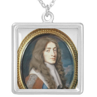Miniature of James II as the Duke of York, 1661 Silver Plated Necklace
