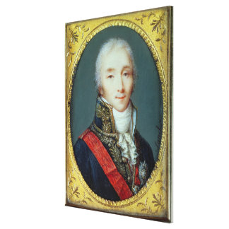Miniature of Joseph Fouche  Duke of Otranto Canvas Print