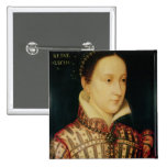 Miniature of Mary Queen of Scots, c.1560 2 Inch Square Button
