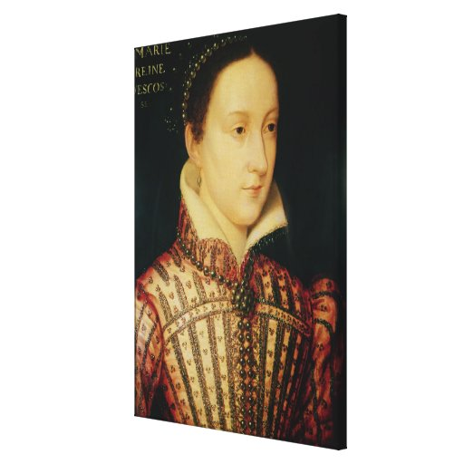 Miniature of Mary Queen of Scots, c.1560 Canvas Print