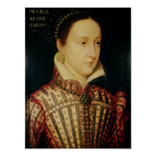 Miniature of Mary Queen of Scots, c.1560 Print