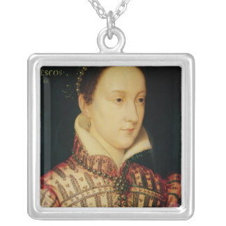 Miniature of Mary Queen of Scots, c.1560 Silver Plated Necklace