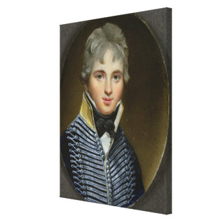 Miniature of William Howe de Lancey d 1815 Corn Gallery Wrapped Canvas