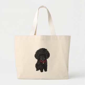 Miniature or Toy Poodle - Black 1 Canvas Bags