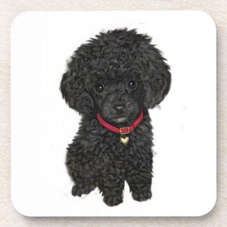 Miniature or Toy Poodle - Black 1 Beverage Coaster