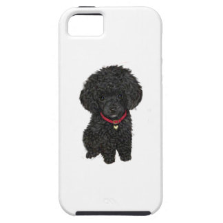 Miniature or Toy Poodle - Black 1 iPhone SE/5/5s Case