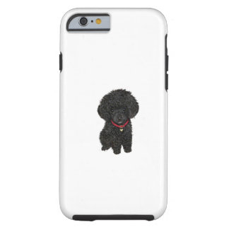 Miniature or Toy Poodle - Black 1 Tough iPhone 6 Case