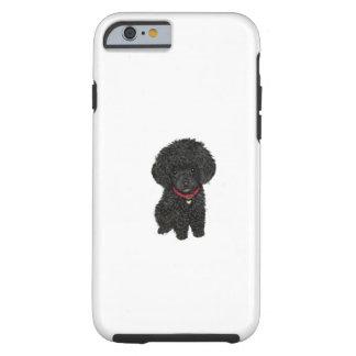 Miniature or Toy Poodle - Black 1 Tough iPhone 6 Case