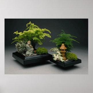Miniature Oriental garden by tdgallery Poster
