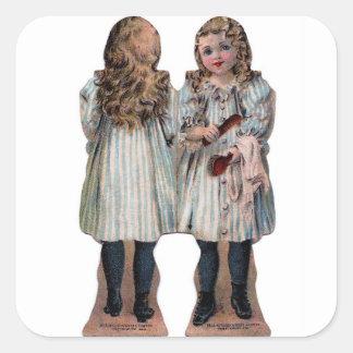 Miniature Paper Dolls Crafts Stickers