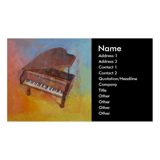 Miniature Piano Business Cards