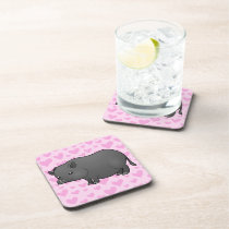 Miniature Pig Love Beverage Coaster