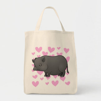 Miniature Pig Love Grocery Tote Bag