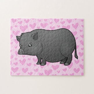 Miniature Pig Love Jigsaw Puzzle