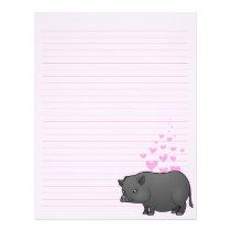 Miniature Pig Love Letterhead