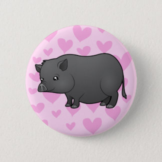 Miniature Pig Love Pinback Button