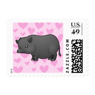 Miniature Pig Love Stamps