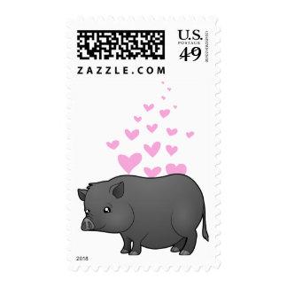 Miniature Pig Love Postage Stamp