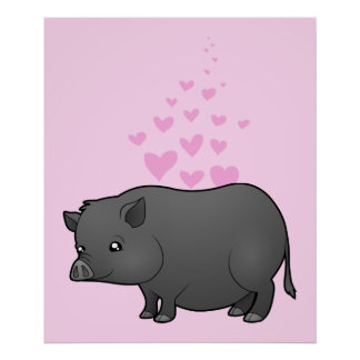Miniature Pig Love Posters