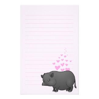 Miniature Pig Love Stationery