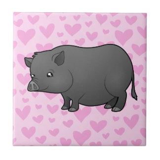 Miniature Pig Love Tile