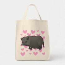 Miniature Pig Love Tote Bag