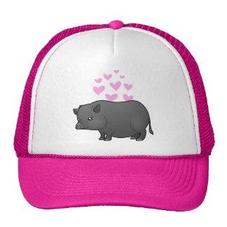 Miniature Pig Love Trucker Hat