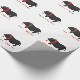 Miniature Pig Merry Christmas Design Gift Wrapping Paper