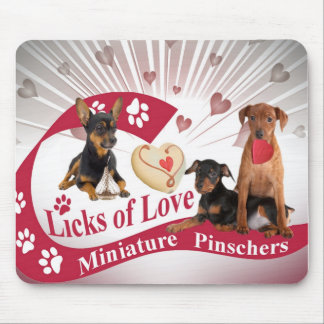 Miniature Pincher Licks Of Love Gifts Mouse Pad