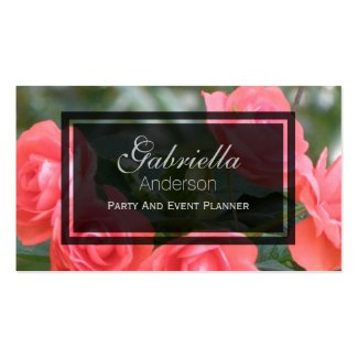 Miniature Pink Rose Business Cards