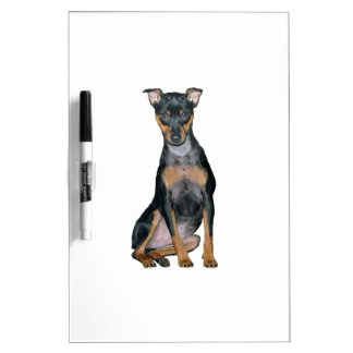 Miniature Pinscher (#1) Dry Erase White Board