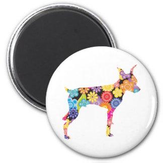 Miniature Pinscher 2 Inch Round Magnet