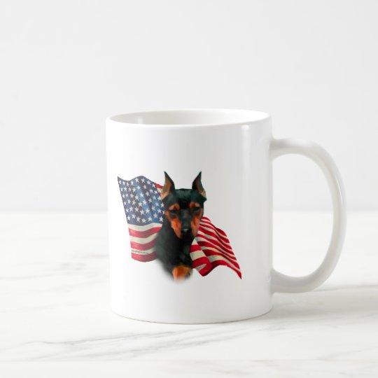 Miniature Pinscher (blk) Flag Coffee Mug