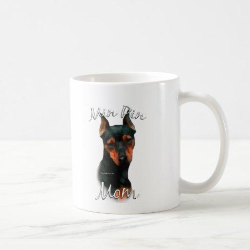 Miniature Pinscher (blk) Mom 2 Coffee Mugs