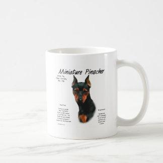 Miniature Pinscher (blk/rust) History Design Classic White Coffee Mug