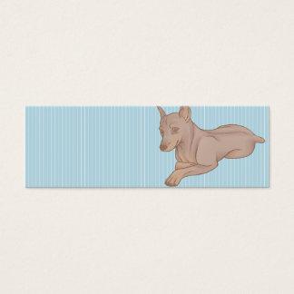 Miniature Pinscher Bookmark Mini Business Card