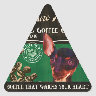 Miniature Pinscher Brand – Organic Coffee Company Triangle Sticker
