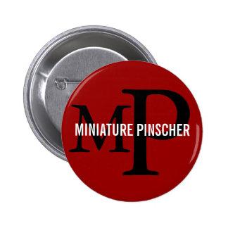 Miniature Pinscher Breed Monogram Design Buttons