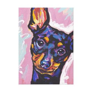 Miniature Pinscher Bright Colorful Pop Dog Art Gallery Wrap Canvas