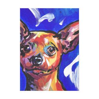 Miniature Pinscher Bright Colorful Pop Dog Art Canvas Prints