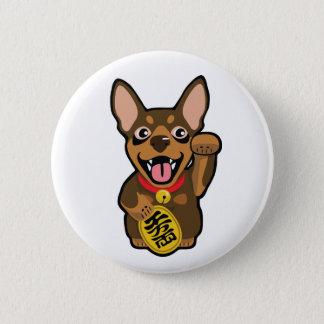Miniature Pinscher Chocolate Min Pin Pin Button