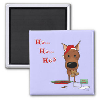 Miniature Pinscher Christmas 2 Inch Square Magnet